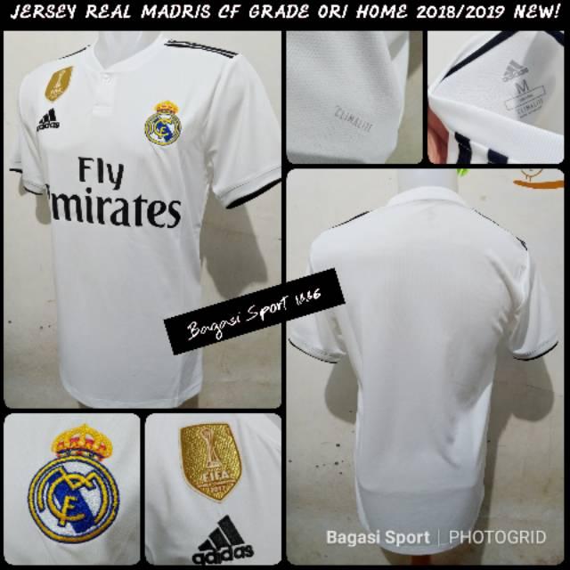 340ab36cd Jersey real Madrid home 2018 2019 official gradeori liga Champions Thailand  jersey murah