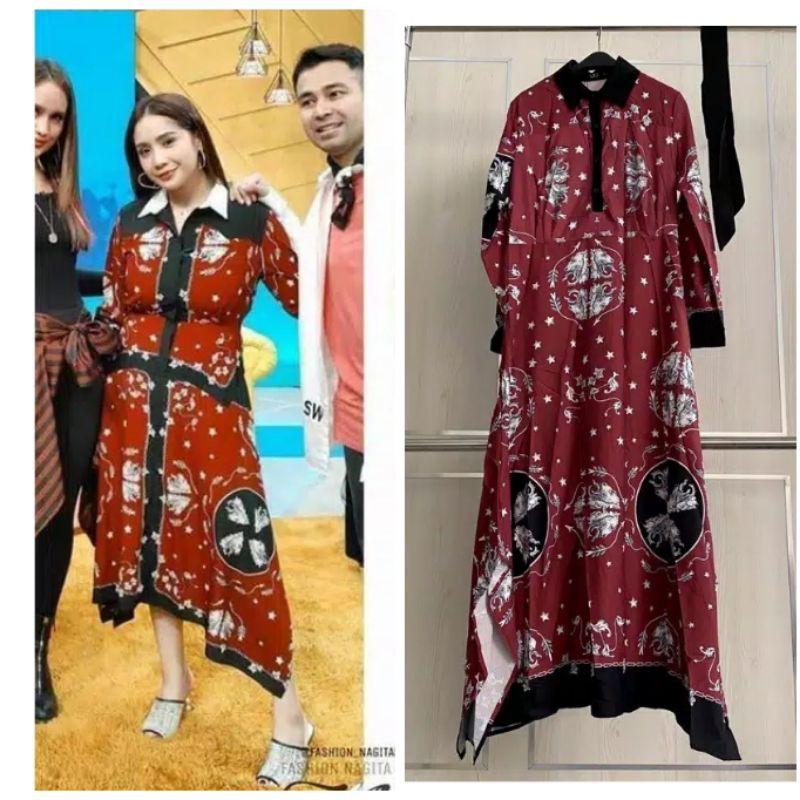 dress gamis etnik Nagita import merk lfy