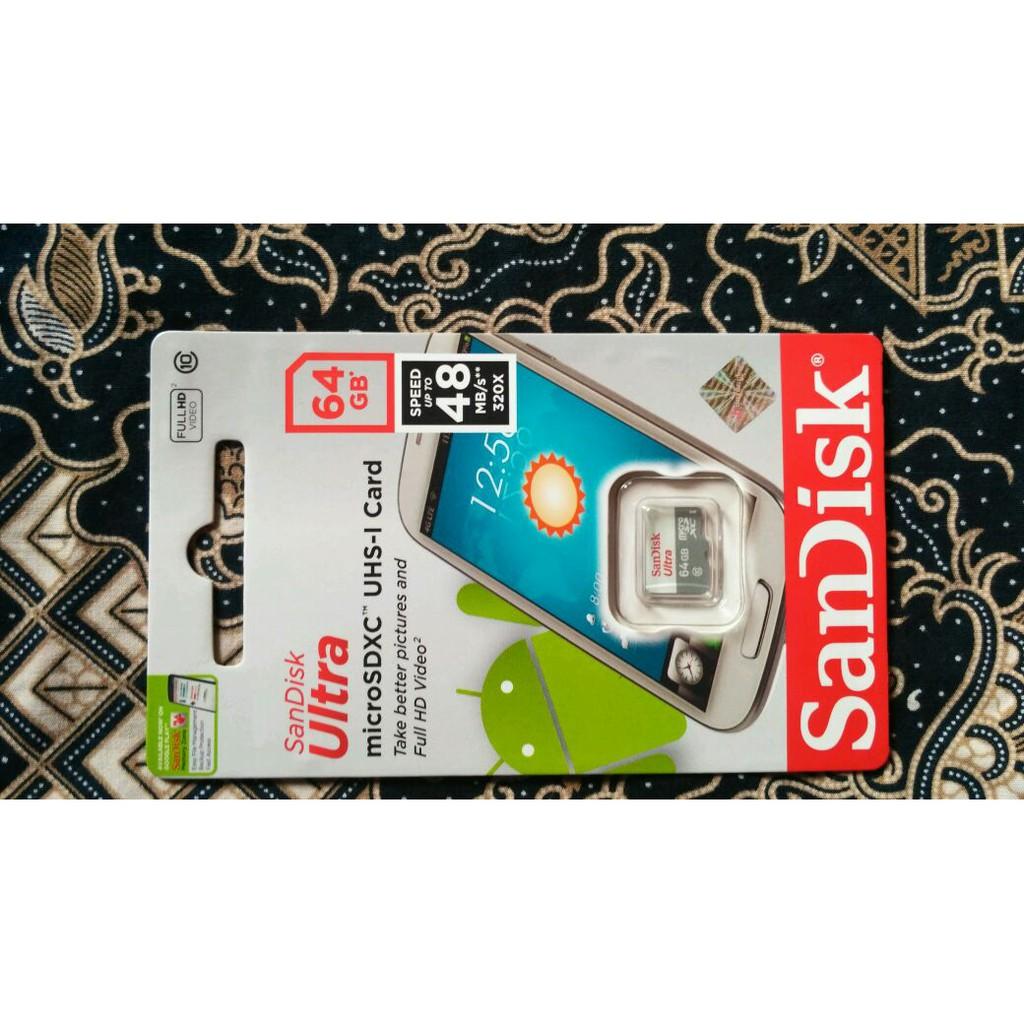 Memory Hp Micro Sd Sandisk Ultra 32gb 48mb S Sdhc Class 10 Sandiskultra Microsd Card 48mbps Original Shopee Indonesia