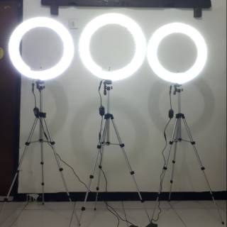 Ringlight dengan dimmer dan stand 50cm