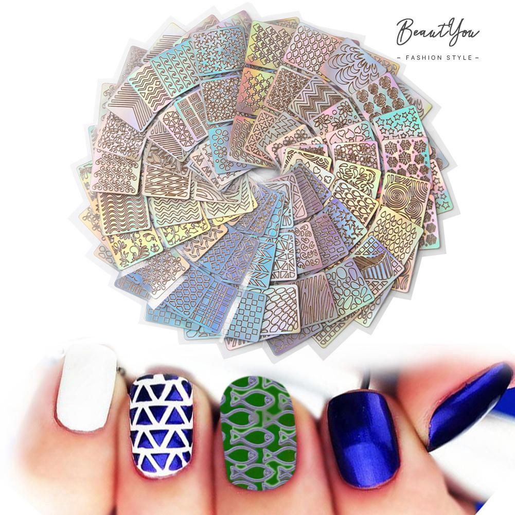 Hot 24pcs Nail Art Stickers Waterproof Salon Nail Beauty Trandfer Decoration Beauty Shopee Indonesia