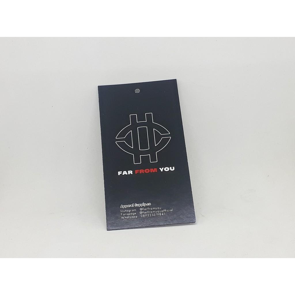 Paket 10pcs Hangtang & Label Murah 10 sisi untuk Baju/Hijab/Kaos/Tas/Dll  Free Desain 10