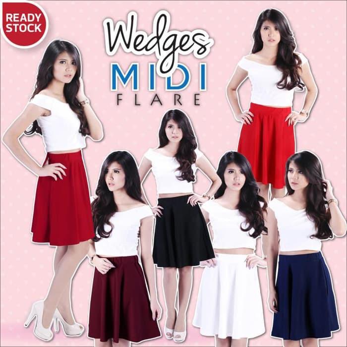 wedges+pakaian+wanita+rok+maxi+skirt - Temukan Harga dan Penawaran Online Terbaik - Januari 2019   Shopee Indonesia