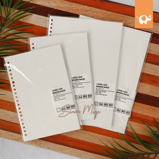 NEW Refill Loose Leaf Binder Paper / Isi Loose leaf Grid Dan Dotted Murah