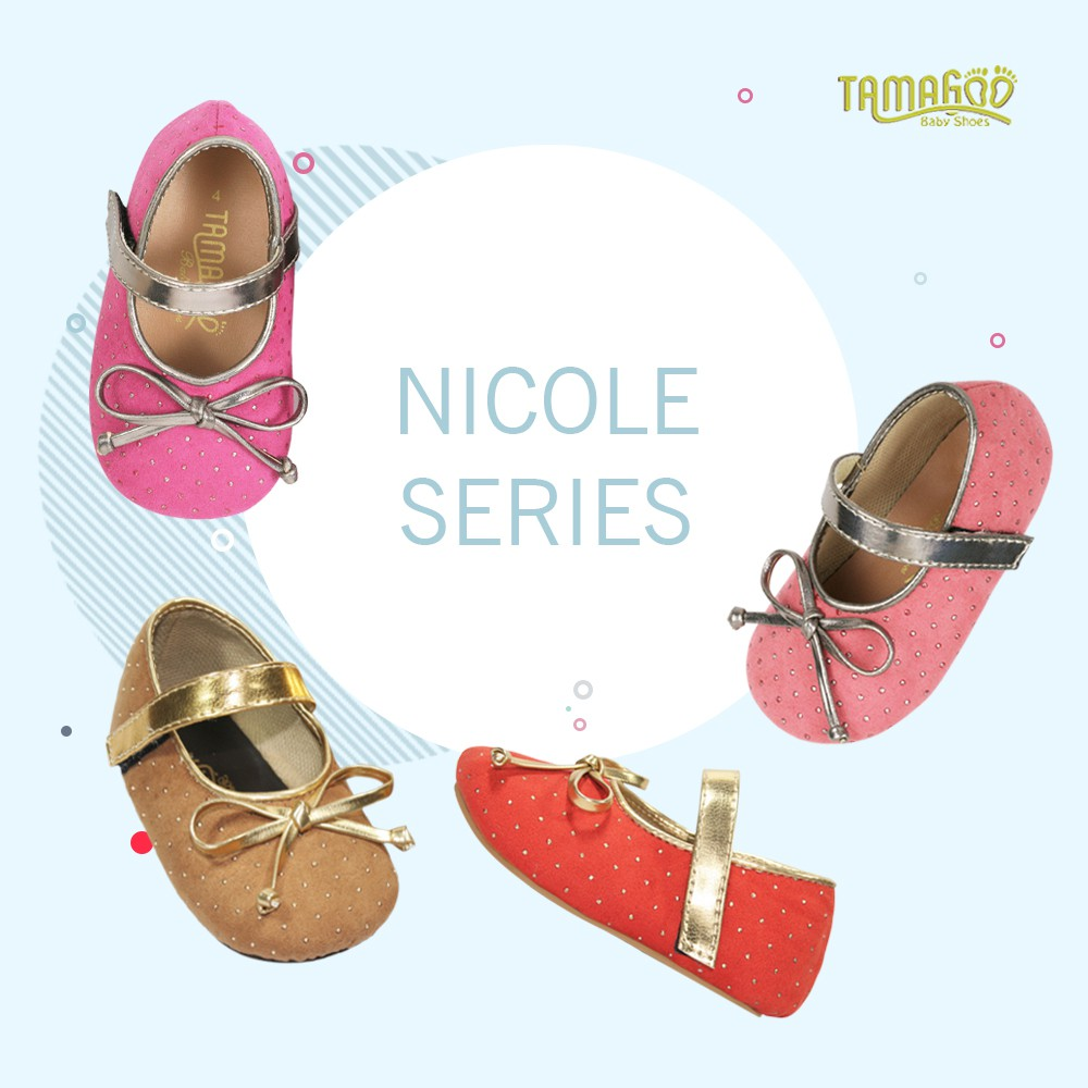 Tamagoo Sepatu Bayi Perempuan Baby Shoes Nicole Pink Daftar Harga Headband Prewalker Babyshoes Bundling Grace Series Murah Branded Shopee Indonesia