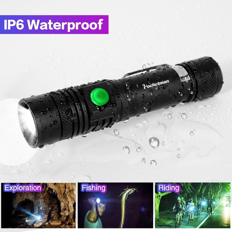 XPE 18650 IPX6 USB recargable 10000LM Riding LED Bright Outdoor Linterna T6