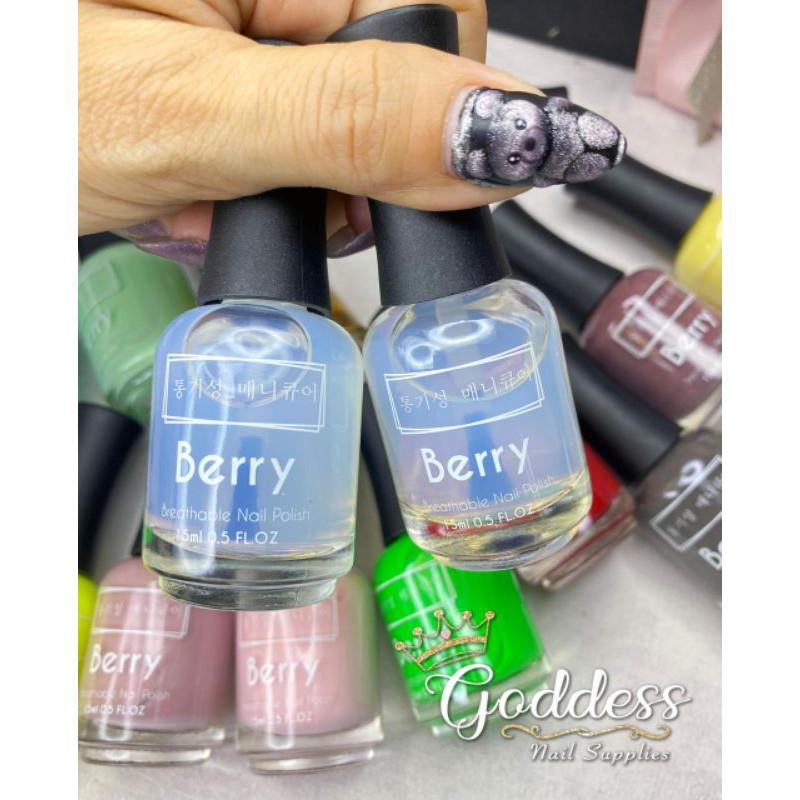 Berry Breathable Nail Polish Top Coat Base Coat Kutek Halal 15ml Shopee Indonesia