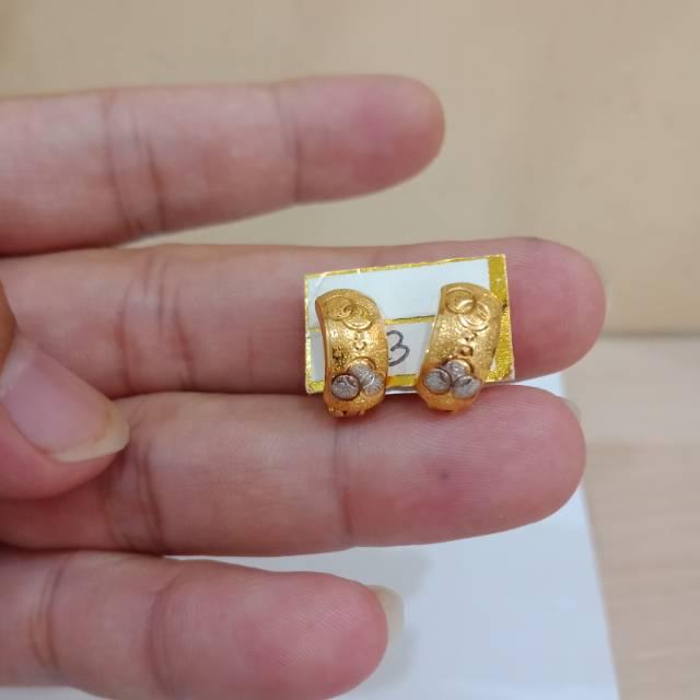 Anting jepit arab emas 23 karat