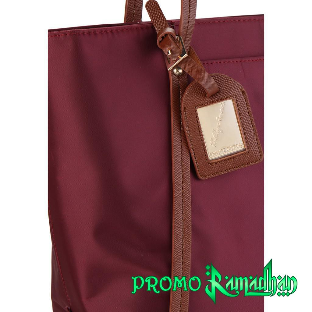 Phillipe Jourdan Tacita Tote Bag Biru Shopee Indonesia Riana Tas Slempang Wanita Maroon