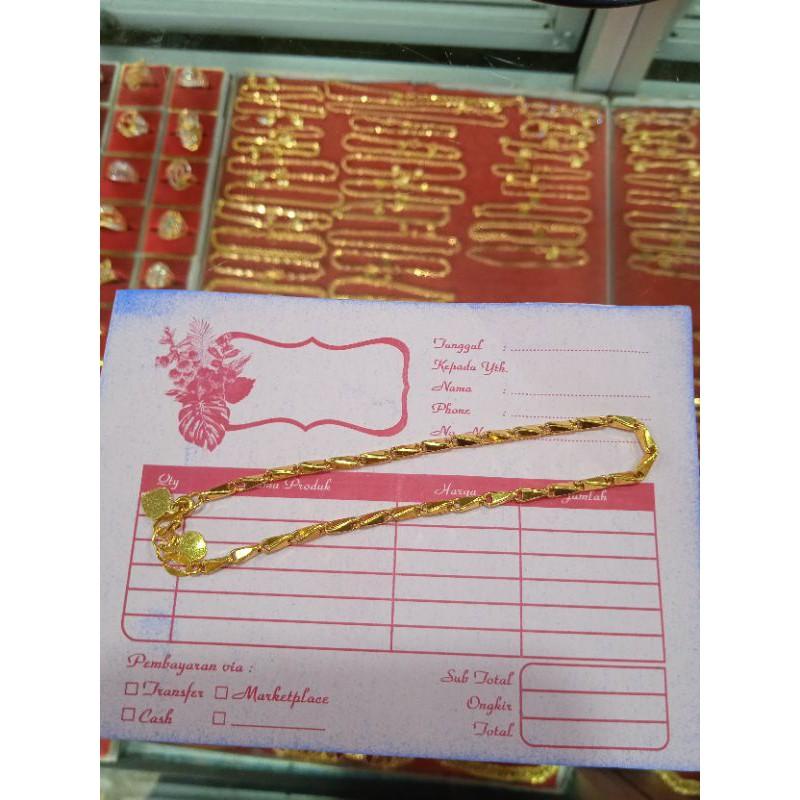 Emas asli gelang padi 3gram emas muda 5k 5% 65rb per gram