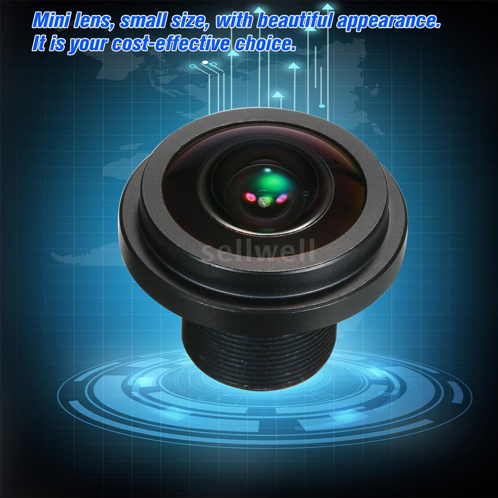 """Fisheye 5mp 1.7mm IR 1//2.5/"""" 360-degree wide-angle lens M12* for Security Camera"""