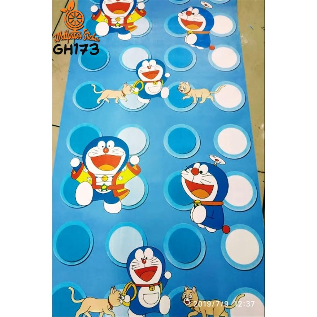 COD Wallpaper Sticker Dinding DORAEMON LUCU 45cm X 10meter GH WALLSTICKER HIASAN DINDING TERBARU