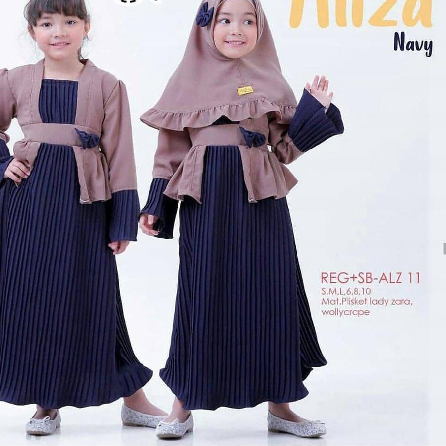 ßм ıı PROMO!!! Aliza Syari-Mosscrepe-Hijab Anak-Model Terbaru-Gamis Anak  Perempuan-Pakaian Terbaru