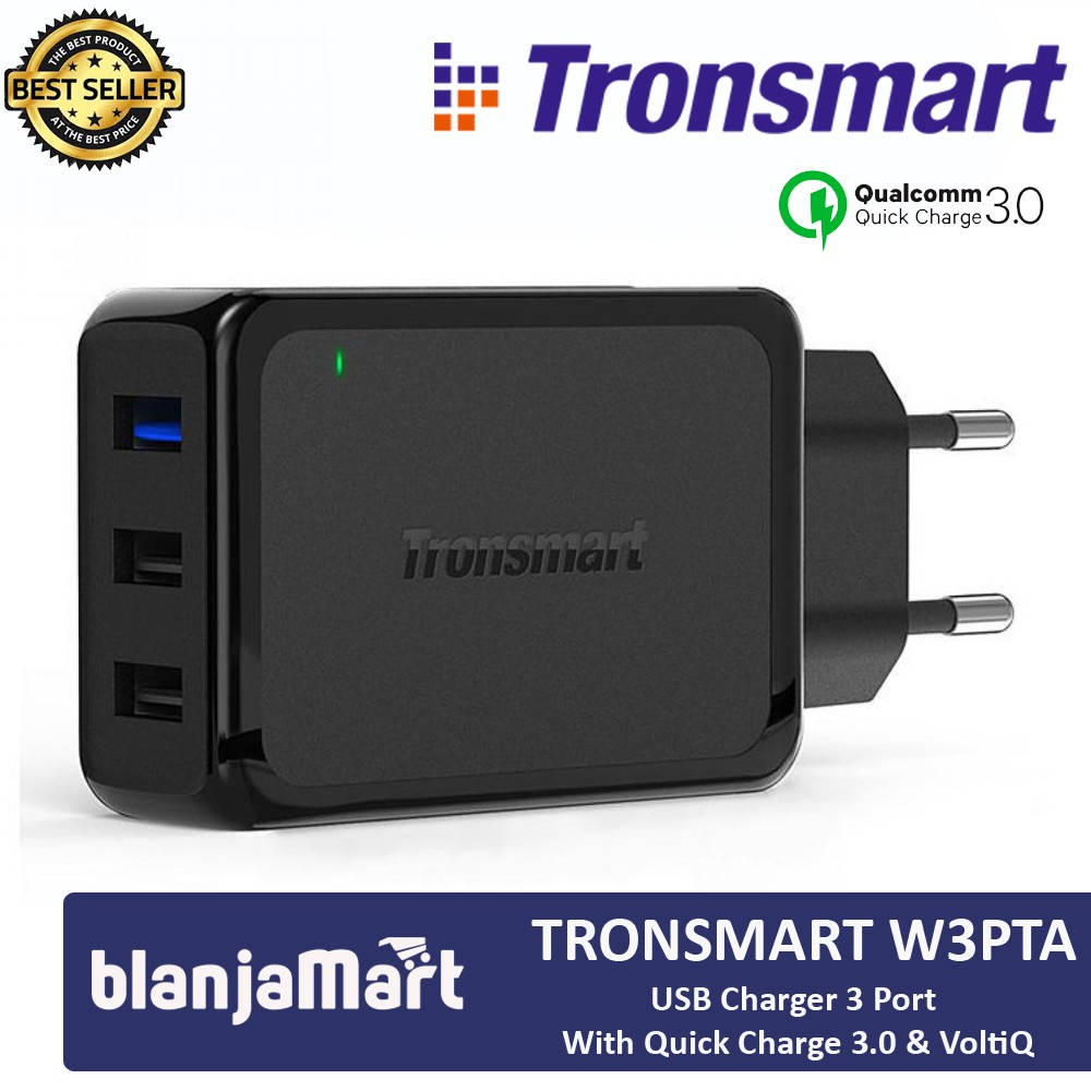 Adaptor Charger Tronsmart W3pta Quick Charge Qualcomm 30 Total 3 Grosir Aukey Cb V10 Premium 35mm Audio Aux Cable 12 Meter Ports Garansi Resmi 1 Tahun Shopee Indonesia