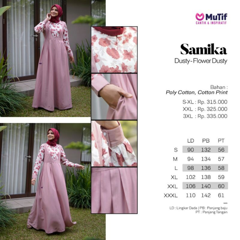 Gamis Mutif Samika Gamis Mutif Terbaru 2020 Gamis Dewasa Gamis Mutif Cantik Shopee Indonesia