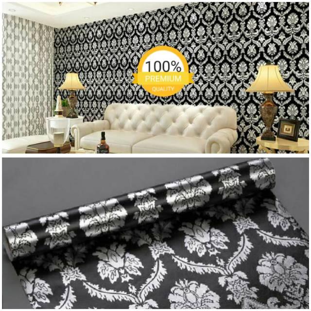 Wallpaper Dinding Kamar Gambar Menara Eiffel  wallpaper dinding murah ruangan kamar tidur batik hitam silver minimalis elegan mewah unik