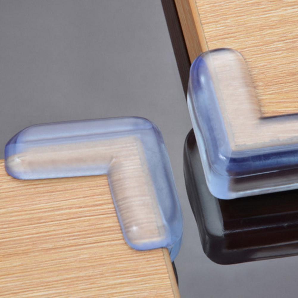 4X Soft Silicon Table Corner Edge Corner Guards Anticollision Strip Kids Safety