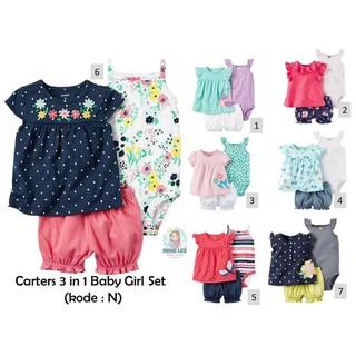 3631a1ac2 CARTER 3 IN 1 BABY GIRL JUMPER N 01   BABY SET   BAJU BAYI PEREMPUAN ...