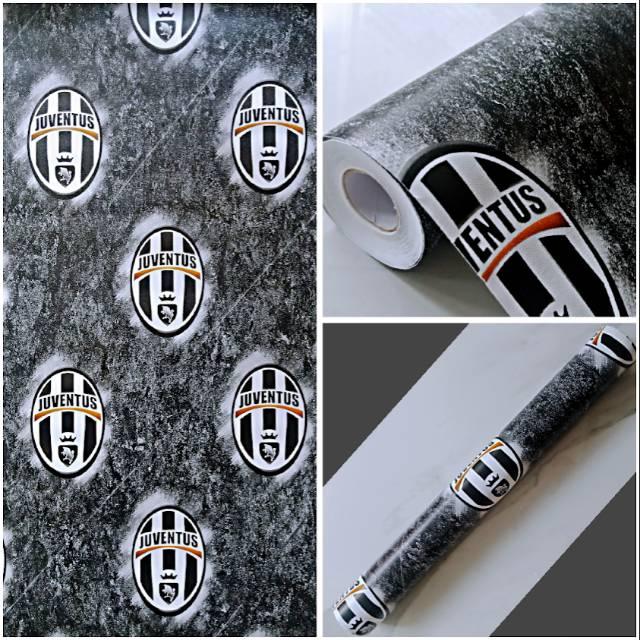 Wallpaper Sticker Dinding Kamar Terbaru Motif Sepak Bola Juventus Indah Shopee Indonesia