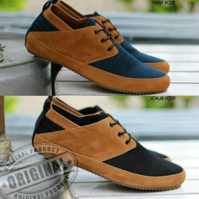 sepatu casual pria original goodness rich - sepatu sneakers kasual santai  3e1ed87b73