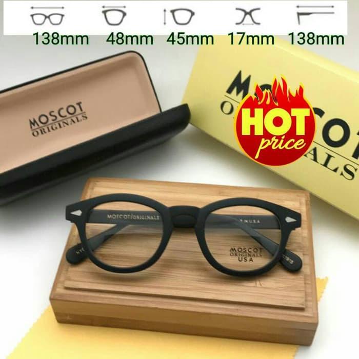 Frame Kacamata Korea MOSCOT Lemtosh Hitam + Gratis Lensa Anti Radiasi  406f8c9d4b
