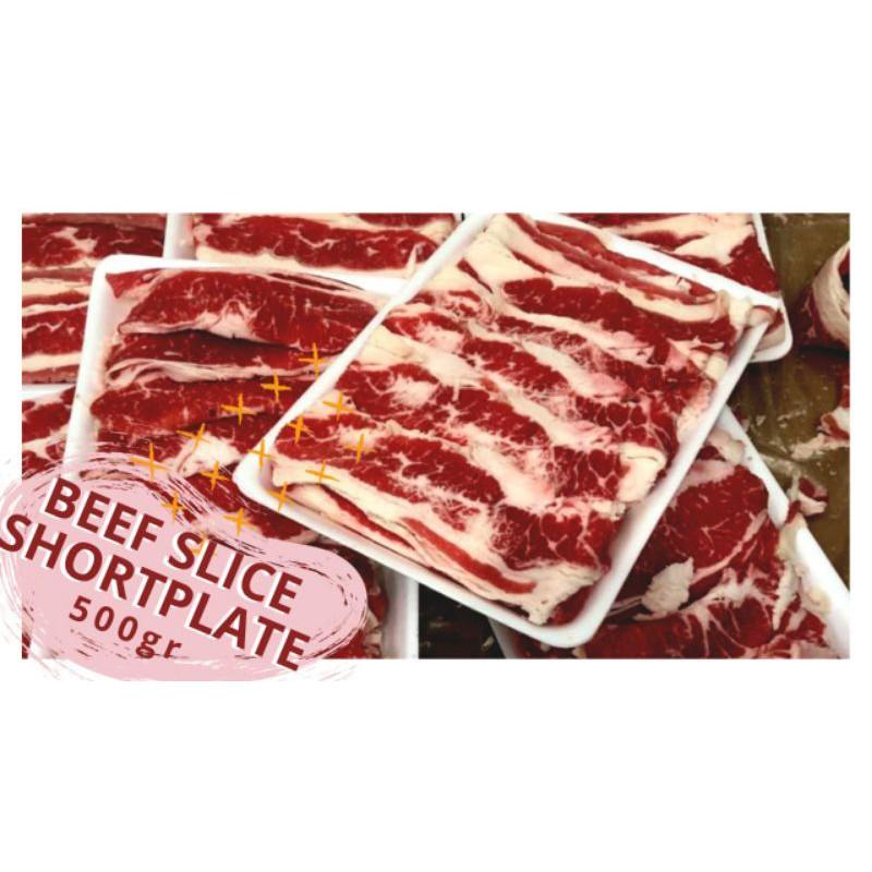DAGING BEEF SLICE SHORTPLATE 500 gr