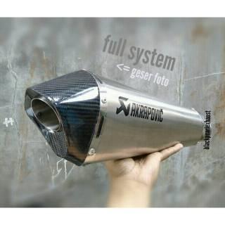 Knalpot Racing Akrapovic Short Titan Carbon New Vixion R NVA