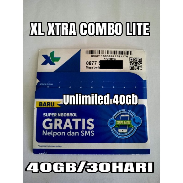XL 40GB UNLIMITED XTRA COMBO LITE