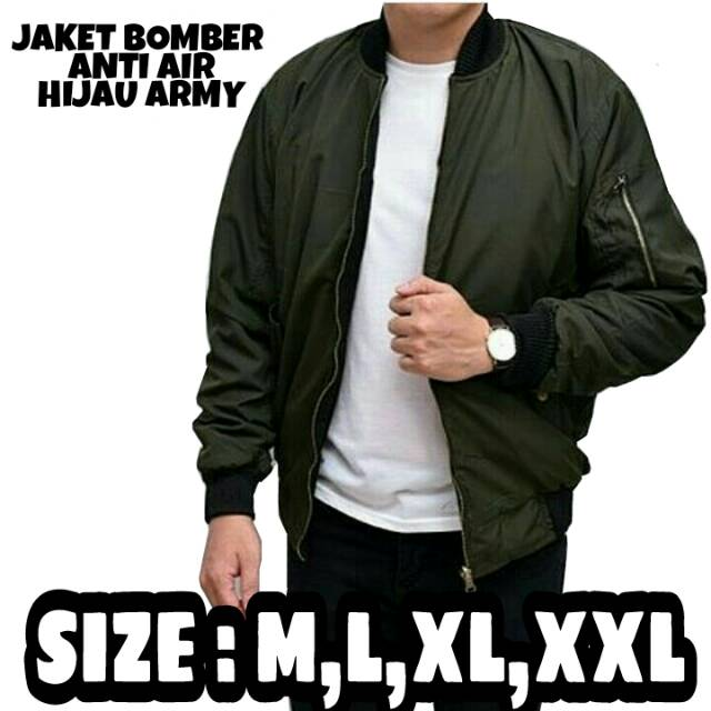 MURAH Jaket Mako Hijau Army All Klub Waterproof Bomber Parka Nike Vans  5688974800