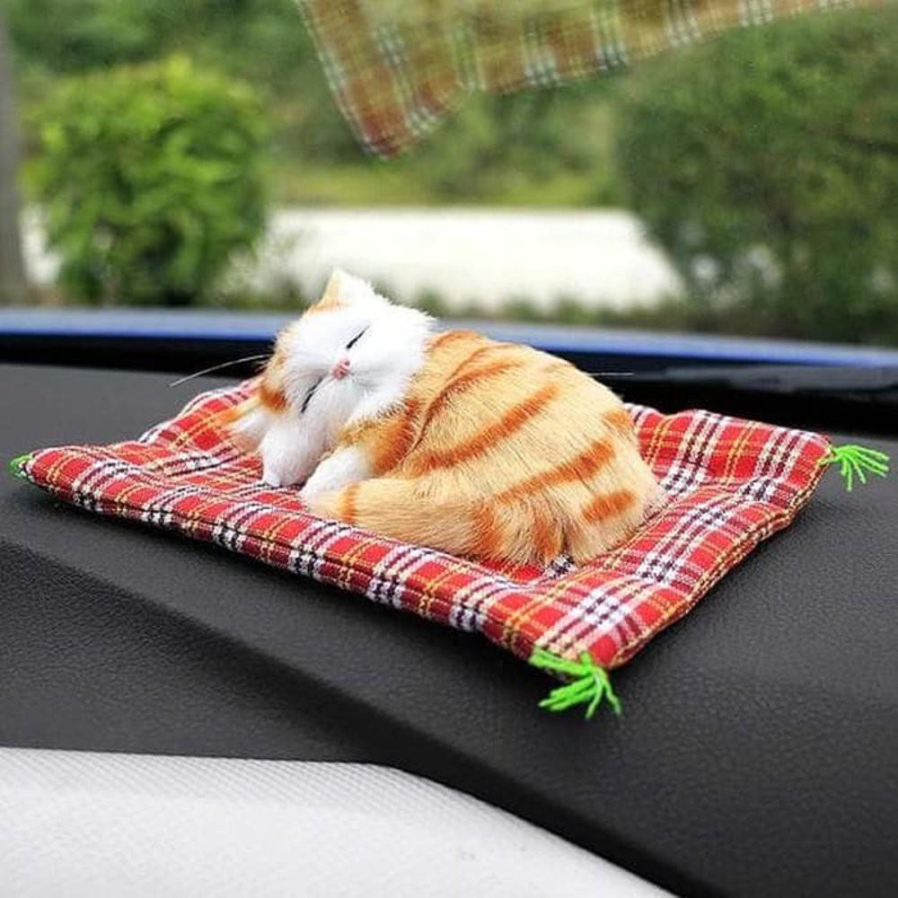 TERMURAH Boneka Kucing Pajangan Meja Tidur Atau Duduk Bersuara Meow