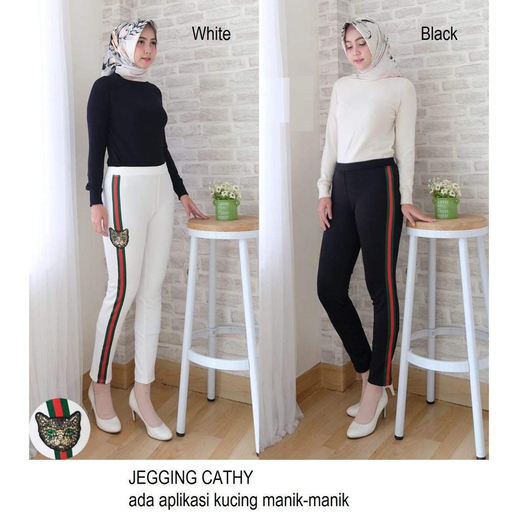 SCUBA JEGGING LIST RED GREEN | Shopee Indonesia -. Source · Celana Kulot Pendek Jumbo Wanita Short Pant ...