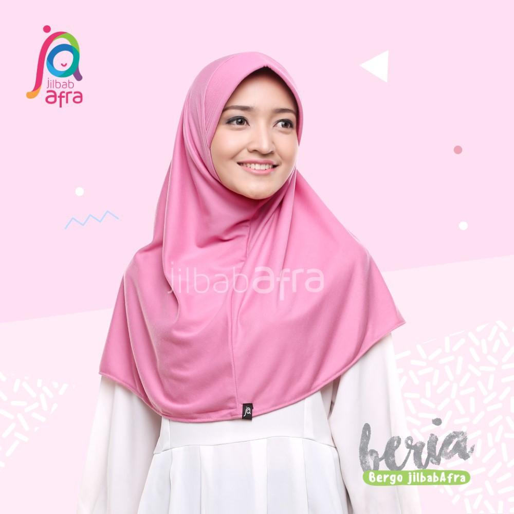 Jilbab Beria - Bergo Jilbab Afra - Hijab Instan Bahan Kaos, Adem, Lembut & Nyaman | Shopee Indonesia