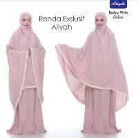 Mukena Dewasa Renda Exklusive Aliyah Model Terbaru Mukena Polos Warna Renda Putih Super Jumbo Mewah