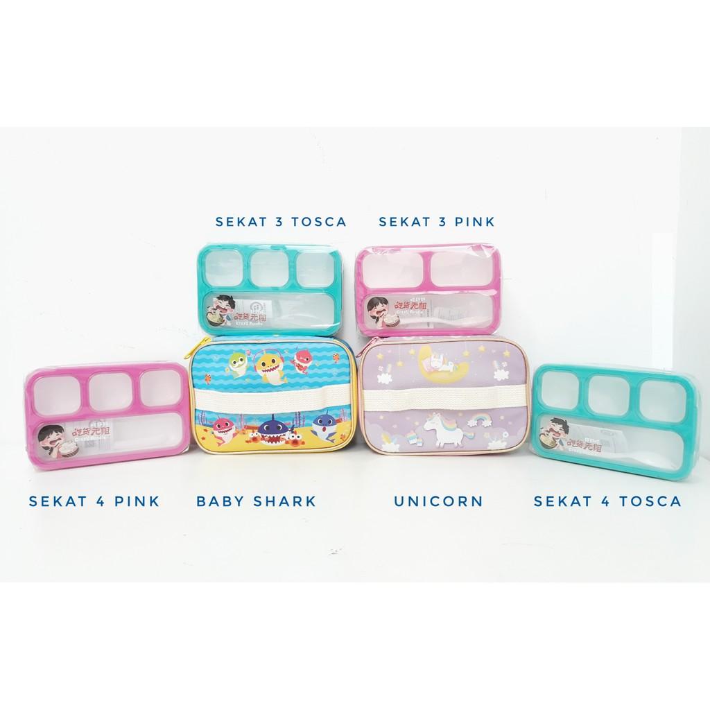 Yooyee Kotak Makan Grid Bento Lunch Box 4 Sekat Anti Bocor Packing Leakproof 578 Tosca Bubble Dan Karton Shopee Indonesia
