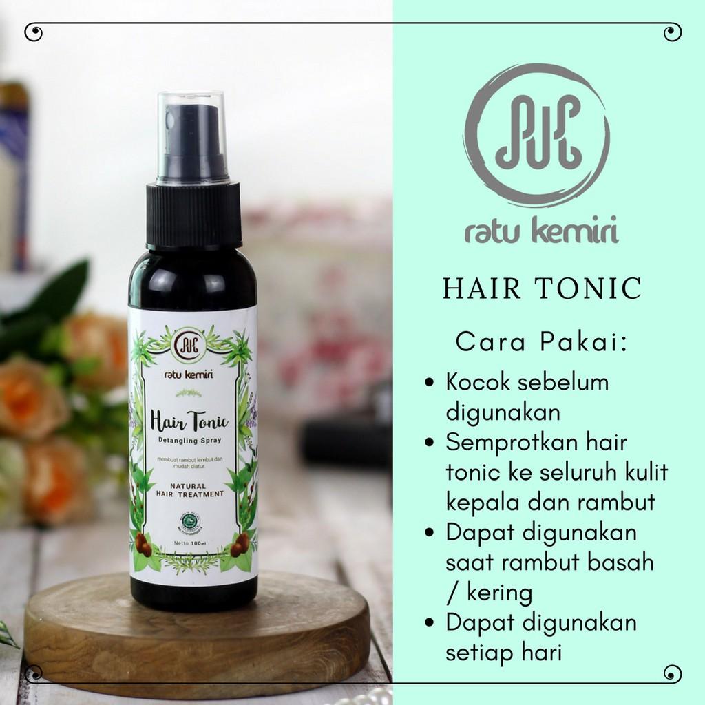 Hair Tonic Ratu Kemiri Untuk Perawatan Rambut Rontok Kering Kusut Mengembang Dan Ketombe Shopee Indonesia