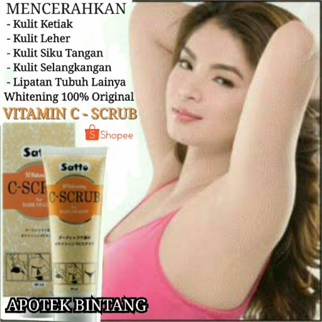 Cream Pemutih Kulit Ketiak dan Selangkangan Whitening Vitamin C Asli Pemutih Lipatan Badan Tubuh   Shopee Indonesia