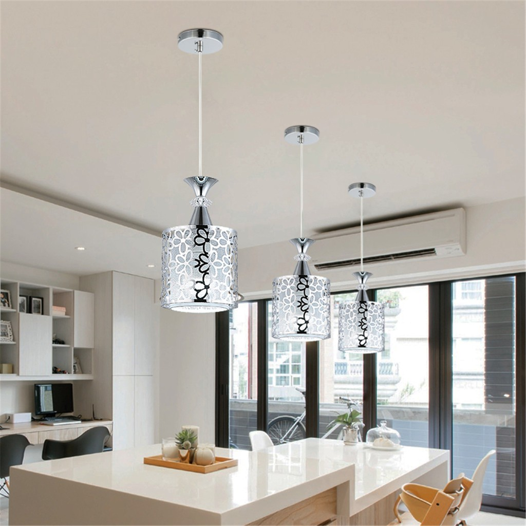 Modern crystal iron ceiling light pendant lamp dining room decor
