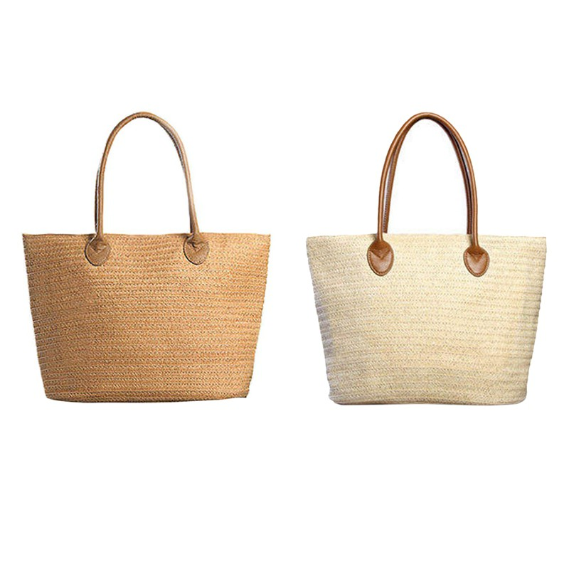 Women's Bags Adroit New Hand Made Straw Bag Women Large Capacity Beach Bags Female Knitting Rattan Bag Summer Holiday Travel Ladies Hand Bags Luggage & Bags