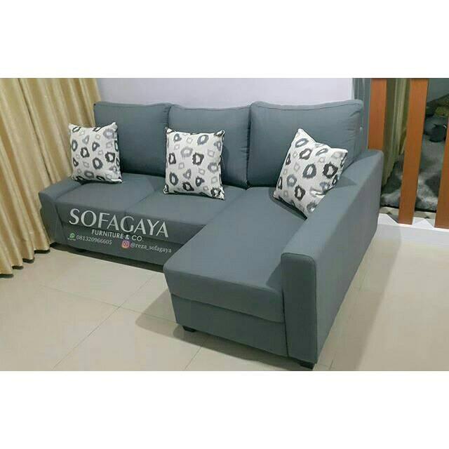 Sofa L Shape Mini Cocok Untuk Ruang Tamu Kecil Shopee Indonesia