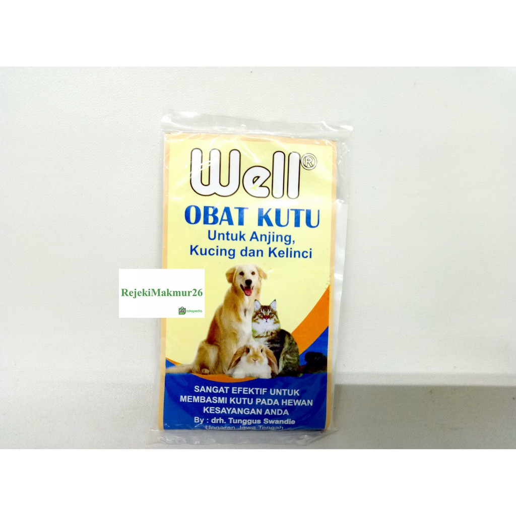 Obat Kutu Anjing Kucing Kelinci Bubuk Well Shopee Indonesia Detick 1 10kg Dog Cat