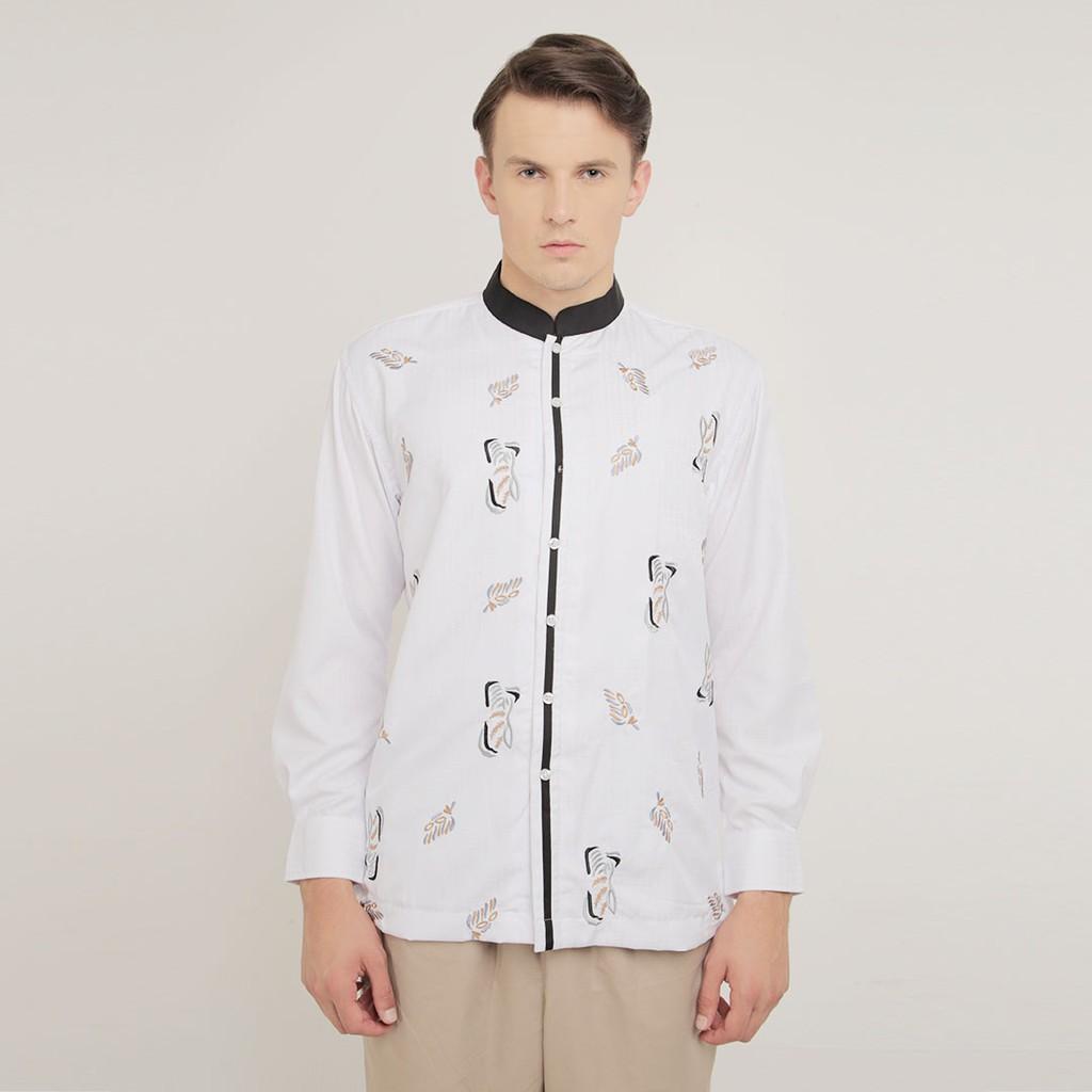 Baju Koko Shafira - Bushra Menswear Biru  09078e8b81