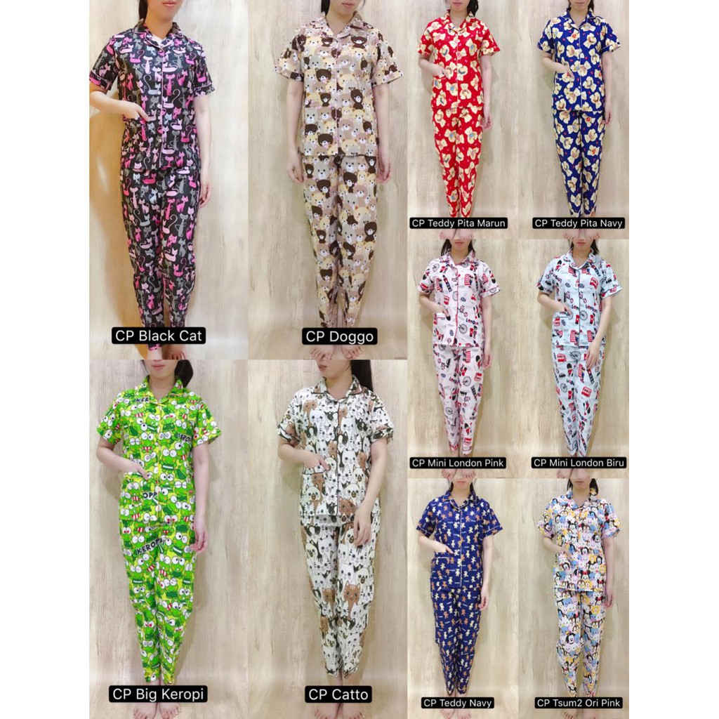 Belanja Online Baju Tidur Pakaian Wanita Shopee Indonesia Import Piyama Pria Korean Style
