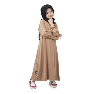 Baju Muslim Gamis Anak Perempuan Murah Polos Basic Jersey - Milo FJML