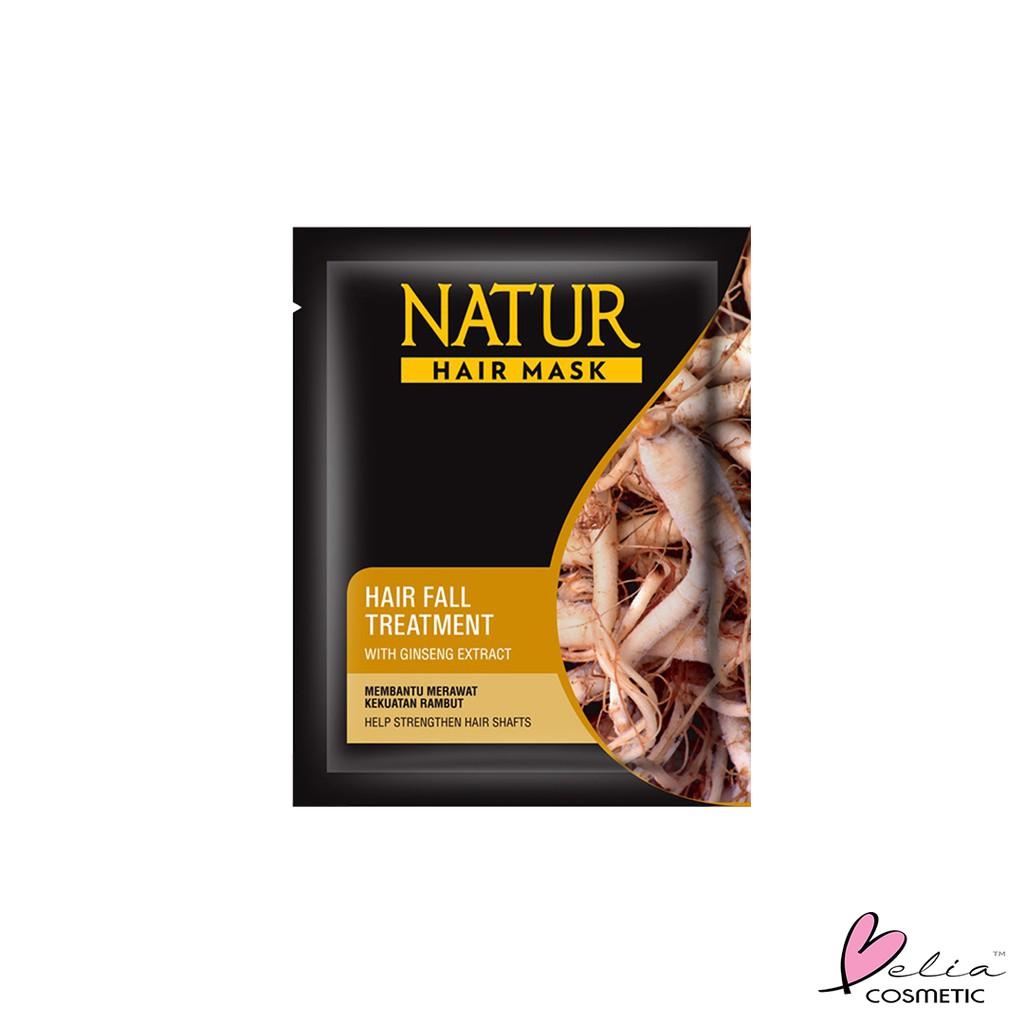 ❤ BELIA ❤ NATUR Hair Mask   Hair Vitamin   2 in 1 Shampoo & Hair Tonic(✔️BPOM)-N.HMaskGinsengCOKLAT