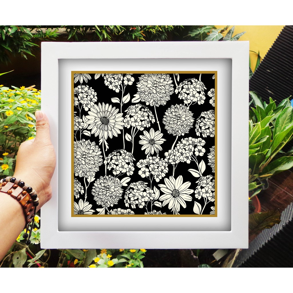 walldecor hiasan rumah murah gambar bunga hitam putih shopee indonesia walldecor hiasan rumah murah gambar bunga hitam putih