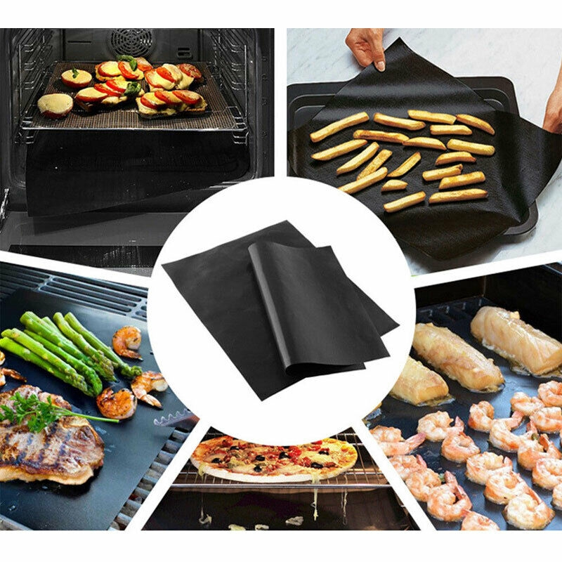Universal Teflon Oven Liner Non Stick Heavy Duty Fan Assisted Cooker Lining Pack of 4