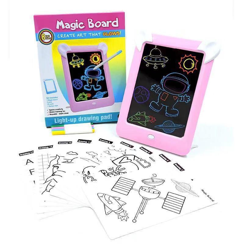 New Buku Gambar Anak 3d Ada Lampu Led Magic Drawing Pad Belajar Menggambar Mewarnai Shopee Indonesia