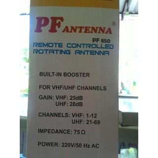 Antena Tv PF 850 Remote Dan Booster. suka: 1 .