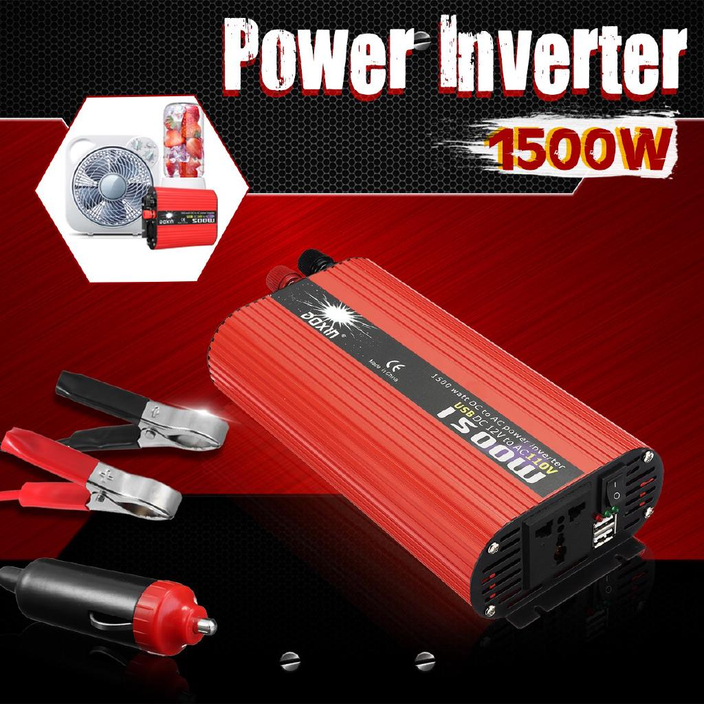 Converter Power Inverter LCD 1500W DC 12 / 24V to AC 110