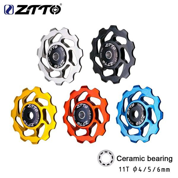 Pulley Sepeda RD Bearing Ceramic Keramik ZTTO 11T Rear Derailleur Pulley for 8 9 10 Speed